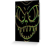 Krazy Face Greeting Card