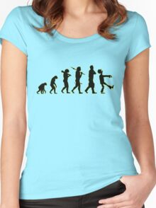 Evolution line up: abe to zombie Women's Fitted Scoop T-Shirt