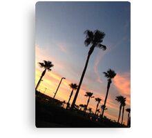 palm trees sunset 1 Canvas Print