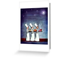 Three Wise Chefs by Rosalie Street Greeting Card