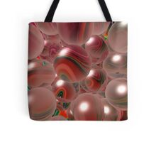 Red Bubbles Tote Bag