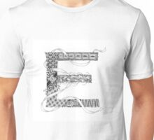 Zentangle®-Inspired Art - Tangled Alphabet - E Unisex T-Shirt