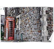 Old Railway Phone Box Poster