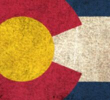Old and Worn Distressed Vintage Flag of Colorado Sticker