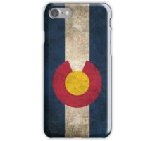Old and Worn Distressed Vintage Flag of Colorado iPhone Case/Skin