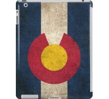 Old and Worn Distressed Vintage Flag of Colorado iPad Case/Skin