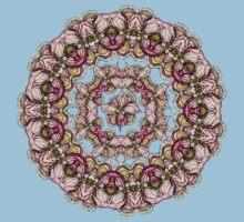red flowers mandala kaleidoscope One Piece - Short Sleeve