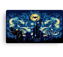 Vampire Starry night digital art Canvas Print