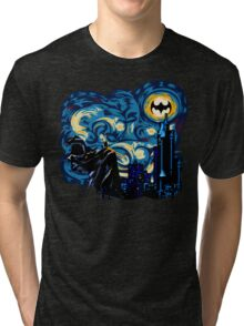 Vampire Starry night digital art Tri-blend T-Shirt