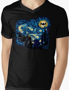 Vampire Starry night digital art Mens V-Neck T-Shirt