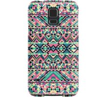 Pink Turquoise Girly Aztec Andes Tribal Pattern Samsung Galaxy Case/Skin
