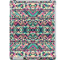 Pink Turquoise Girly Aztec Andes Tribal Pattern iPad Case/Skin