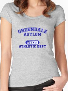 Greendale Asylum Women's Fitted Scoop T-Shirt