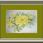 yellow roses by Jorja