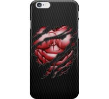 Red Devil torn tee tshirt pencils color art iPhone Case/Skin
