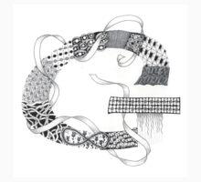 Zentangle®-Inspired Art - Tangled Alphabet - G One Piece - Short Sleeve