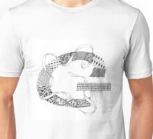 Zentangle®-Inspired Art - Tangled Alphabet - G Unisex T-Shirt