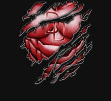 Red Devil torn tee tshirt pencils color art Unisex T-Shirt