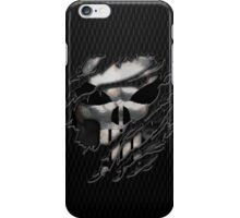 Silver Skull torn tee tshirt iPhone Case/Skin