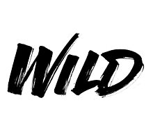 Wild Troye Sivan Logo in Black with White Border by collin foster