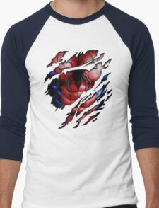 Peter torn tee tshirt pencils color art Men's Baseball ¾ T-Shirt