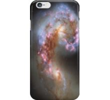 Pixelated Galaxy Collision iPhone Case/Skin