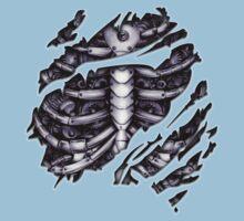 Steampunk terminator Cyborg robot body torn tee tshirt Baby Tee