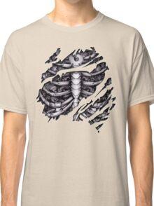Steampunk terminator Cyborg robot body torn tee tshirt Classic T-Shirt