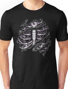 Steampunk terminator Cyborg robot body torn tee tshirt Unisex T-Shirt