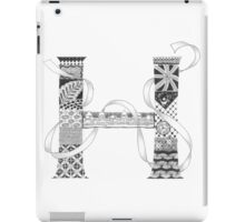 Zentangle®-Inspired Art - Tangled Alphabet - H iPad Case/Skin
