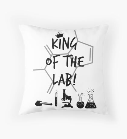 King of the Lab! 3  Throw Pillow