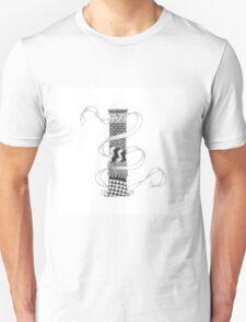 Zentangle®-Inspired Art - Tangled Alphabet - I T-Shirt