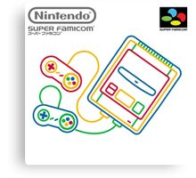 Super Famicom Canvas Print