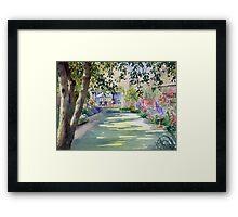 Walled garden Framed Print