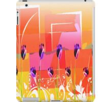 Purple Tulips Retro iPad Case/Skin