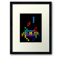 Tetris Invaders Framed Print