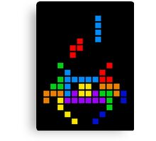 Tetris Invaders Canvas Print
