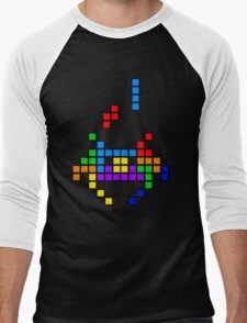 Tetris Invaders Men's Baseball ¾ T-Shirt
