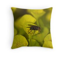 Pollen Speckled Fly Throw Pillow