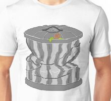 Random snail on a garbage pail Unisex T-Shirt