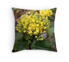 Snail and Flower Throw Pillow