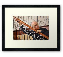 Curb your larry david Framed Print