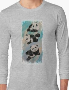 Panda Karate Long Sleeve T-Shirt