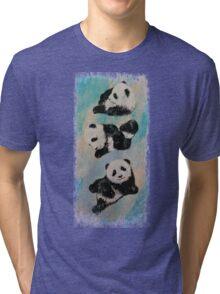 Panda Karate Tri-blend T-Shirt