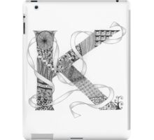 Zentangle®-Inspired Art - Tangled Alphabet - K iPad Case/Skin