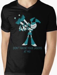 Teenage Robot - Raise Your Lasers Mens V-Neck T-Shirt