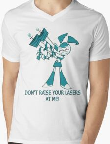 Teenage Robot - Raise Your Lasers Mens V-Neck T-Shirt