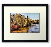 Colors on the Whitemouth River Framed Print