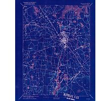 Massachusetts  USGS Historical Topo Map MA Taunton 353067 1893 62500 Inverted Photographic Print