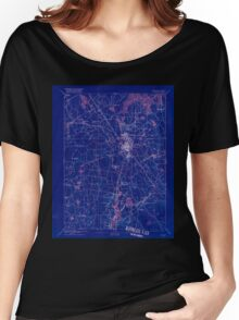 Massachusetts  USGS Historical Topo Map MA Taunton 353067 1893 62500 Inverted Women's Relaxed Fit T-Shirt
